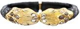 Alexandria Gold Small Snake Bracelet, Black