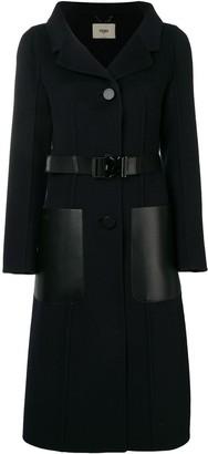 Fendi Belted Single-Breasted Coat