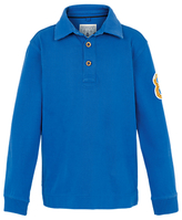 Fat Face Children's Badge Rugby Shirt, Cobalt Blue