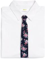 Topman Blue Chambray Floral 6cm Tie