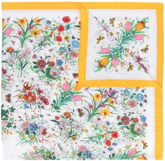 Gucci Pre-Owned Floral Print Scarf