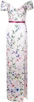 Marchesa Off-The-Shoulder Mikado Gown