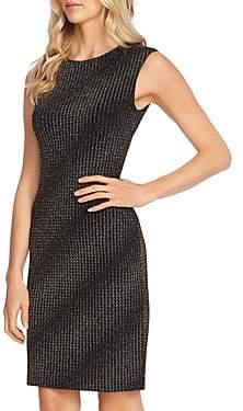 Vince Camuto Metallic Textured Knit Dress