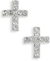 Girl's Tomas Crystal Cross Earrings