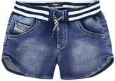 Diesel Denim effect fleece shorts