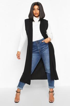 boohoo Plus Tailored Sleeveless Duster