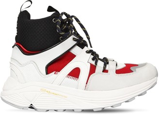 Ganni 30mm Brooklyn Leather High Top Sneakers