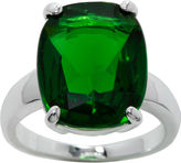JCPenney Bridge Jewelry city x city Pure Silver-Plated Green Crystal Cocktail Ring