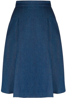Massimo Alba Rosa denim a-line skirt