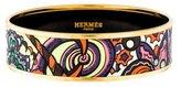 Hermes Wide Enamel Bangle Bracelet