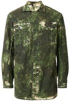 11 By Boris Bidjan Saberi washed camouflage print jacket - men - Cotton/Spandex/Elastane - S