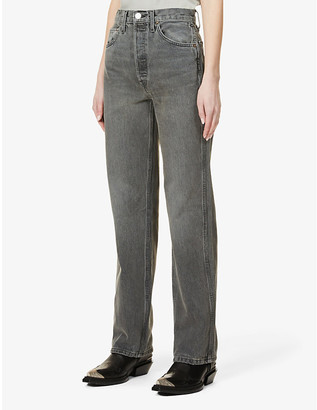 RE/DONE 90s High-Rise Slim-Fit Straight-Leg Jeans