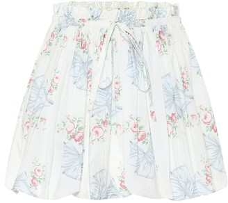 LoveShackFancy Cheyon floral cotton miniskirt