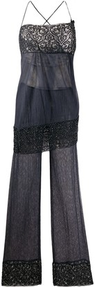 Romeo Gigli Pre Owned Beaded Embroidery Jumpsuit