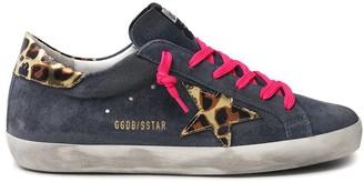 Golden Goose Superstar Sneaker in Grey Blue/Gold Black Leo