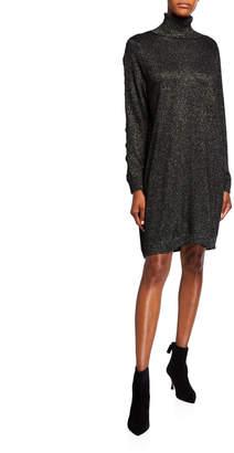 MICHAEL Michael Kors Lurex Cable-Sleeve Dress