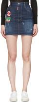 DSQUARED2 Blue Patchwork Denim Miniskirt
