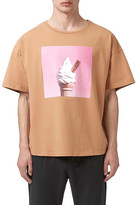 Topman Oversized Ice Cream Graphic Crewneck T-Shirt