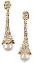 Nadri Pave & Faux-Pearl Drop Earrings