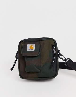 Carhartt Wip WIP Essentials small flight bag in evergreen camo