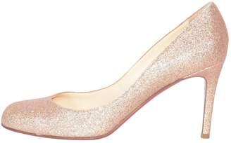 Christian Louboutin Simple pump Gold Glitter Heels