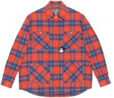 Gucci Disney x check cotton zip-up shirt