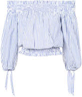 Caroline Constas off-the-shoulders striped blouse