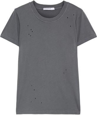 Stateside Distressed Cotton-jersey T-shirt
