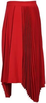 Ambush Pleated Asymmetric Midi Skirt