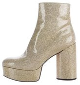 Marc Jacobs Amber Glitter-Embellished Ankle Boots