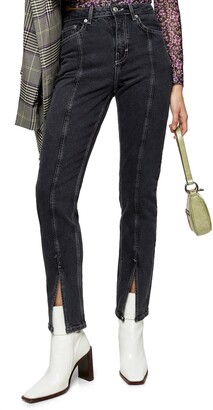Topshop Considered Split Outseam High Waist Jeans