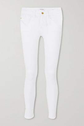 Frame Le Skinny De Jeanne High-rise Jeans - White