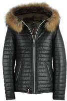 Oakwood Happy Beige Leather Hooded Jacket