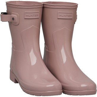 Hunter Womens Short Gloss Duo Wellington Boots Bella