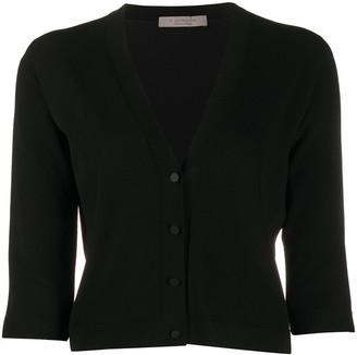 D-Exterior Knitted Cropped Cardigan
