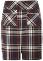 Dorothy Perkins Navy And Red Check A-Line Skirt