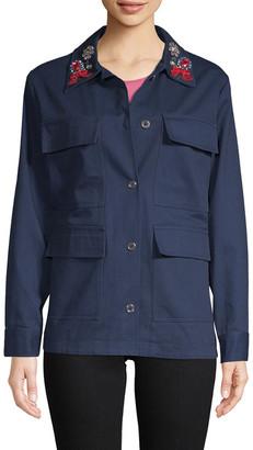 Manoush Embellished Camo Jacket