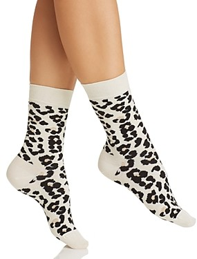 Happy Socks Leopard Print Crew Socks