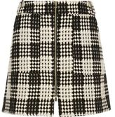 River Island Womens RI Plus black and white checked woven skirt