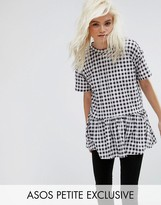 Asos Casual Smock Top in Gingham Print