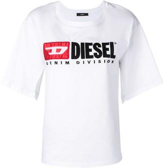 Diesel split-sleeve logo T-shirt