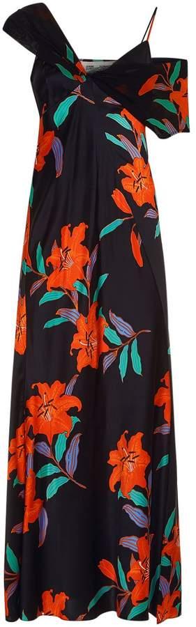Diane von Furstenberg Asymmetric Floral Dress