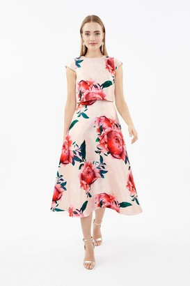 Coast Floral Cap Sleeve Full Skirted Shelf Dress