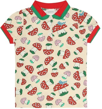 Gucci Kids Printed stretch-cotton shirt