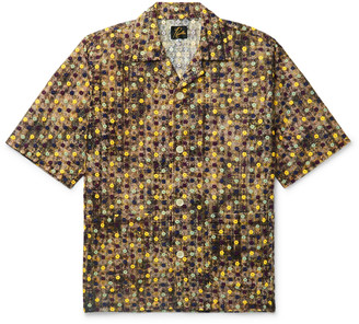 Needles Camp-Collar Embroidered Woven Shirt