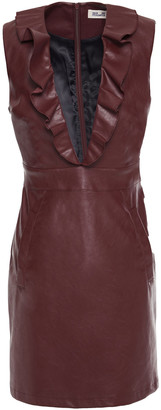 Baum und Pferdgarten Abee Ruffled Faux Leather Mini Dress