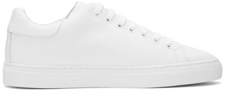 Moschino White Leather Logo Sneakers