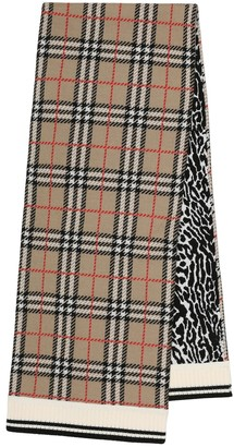 BURBERRY KIDS Vintage Check merino wool scarf
