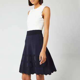 Ted Baker Women's Polino Contrast Skirt Knitted Dress