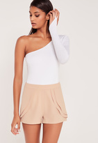 Missguided Carli Bybel Pleated Shorts Pink